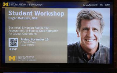 Roger McElrath – Human Rights and Risk Assessment Workshop