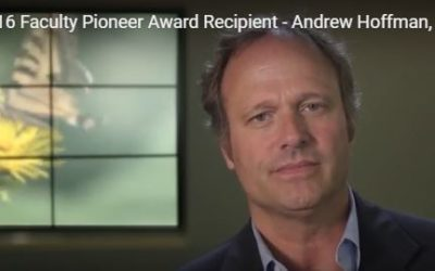 Andy Hoffman Receives 2016 Aspen Institute Faculty Pioneer Award