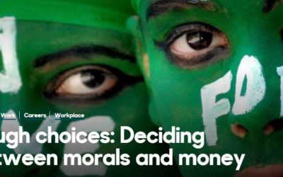 Tough Choices: Deciding between Morals and Money (BBC article)