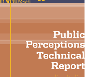 Hydraulic Fracturing in the state of Michigan: Public perceptions technical report