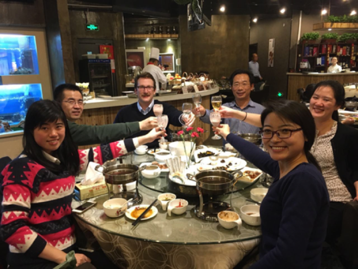 Our hosts noticed how much we liked hot pot, so they took us to another restaurant near Yujiapu. This time, we ordered adventurously: cow stomach, 100-year old egg, bone marrow and pig ear.