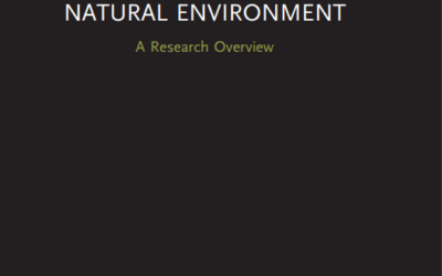 """""""Business and the Natural Environment"""" by Andy Hoffman – A Review by Judith Walls (NTU Singapore)"""