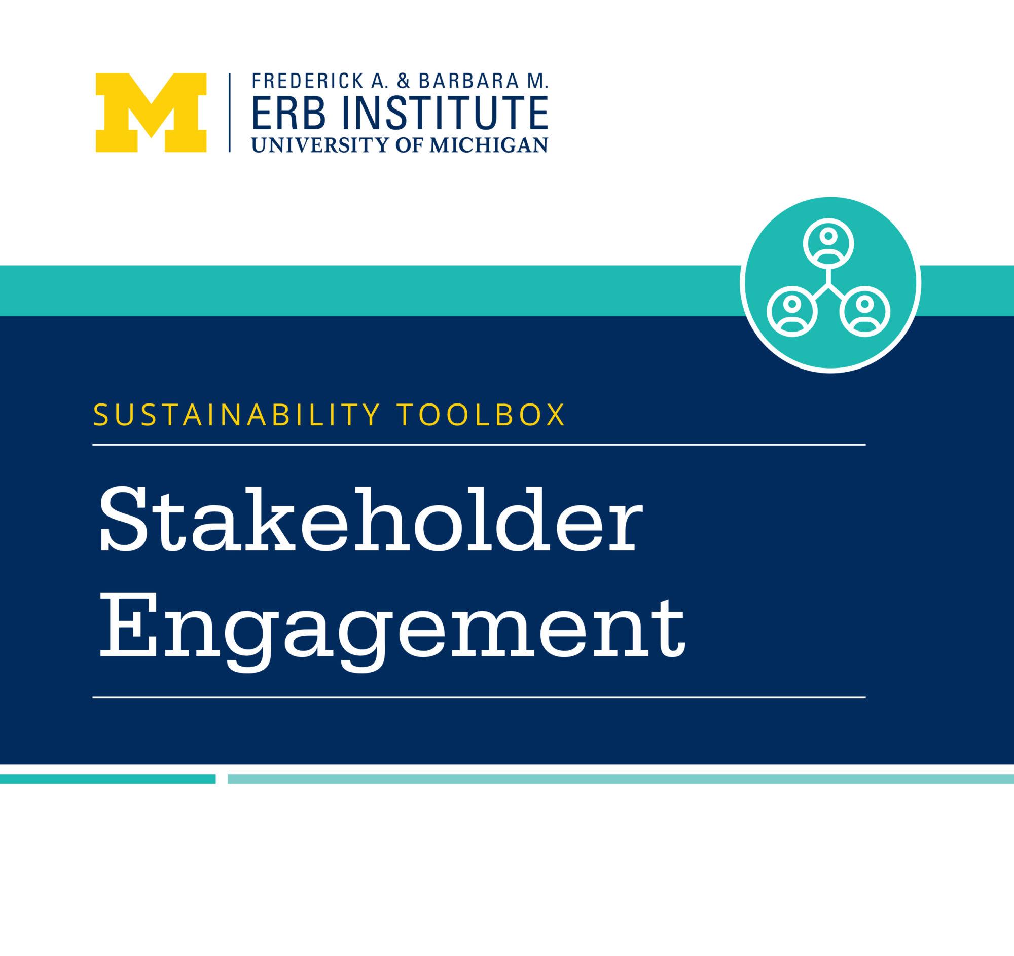 Sustainability Toolbox: Stakeholder Engagement