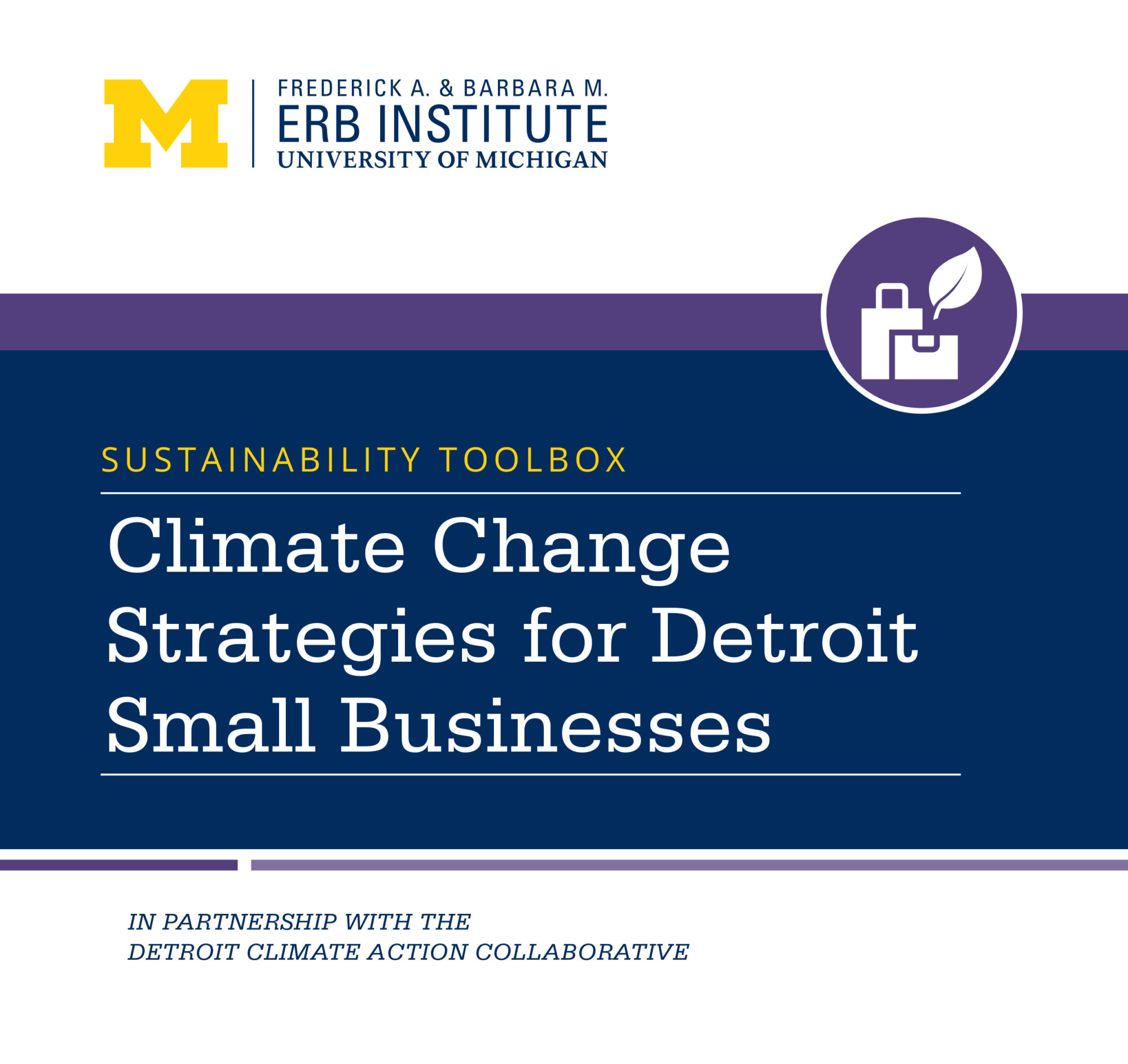 Sustainability Toolbox: Climate Change Strategies for Detroit Small Businesses