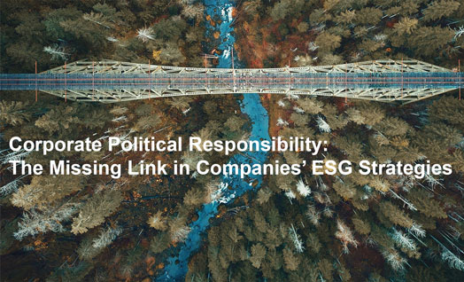 Corporate Political Responsibility: The Missing Link in Companies' ESG Strategies